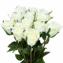 Rosa blanca 42cm 12pcs