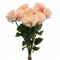 Ramo de rosas artificiales albaricoque 8pcs