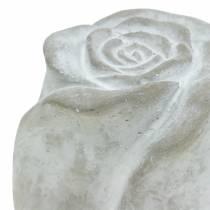 Grave joyas Rose tumba decoración rosas hechas de hormigón H7cm 6pcs