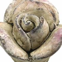 Hormigón gris rosa, violeta Ø7,7 H5,5cm 3 piezas