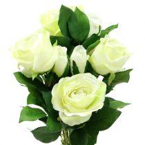 Ramo de rosas crema 48cm