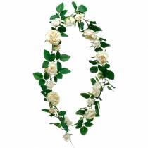 Guirnalda de rosas romántica, flor de seda, zarcillo de rosas artificiales 160cm