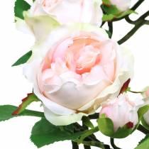 corona de rosas rosa Ø35cm