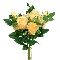 Ramo de rosas crema L46cm