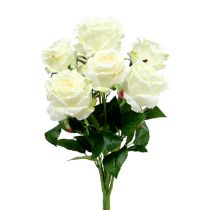 Ramo de rosas blanco, crema 55cm