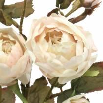 Rosa artificial rama crema blanco 76cm