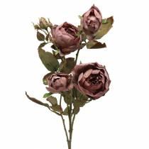 Rama de rosa artificial violeta 76cm