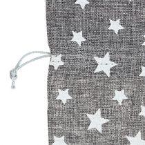 Bolso con estrellas Ø23cm H35cm Gris