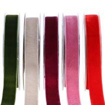 Cinta de terciopelo diferentes colores 20mm 10m