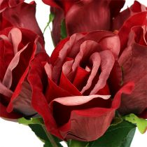 Terciopelo rosa rojo Ø8cm L45cm 6pcs