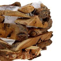 Conchas de madera natural Ø28cm H16cm