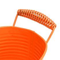 Cuenco ovalado naranja 20cm x 12cm H9cm