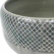 Recipiente de cerámica, cuenco con patrón de canasta, cuenco de plantas alrededor de Ø18cm