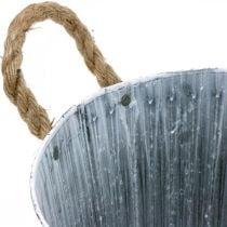 Macetero de metal, macetero, macetero con asas Ø28cm