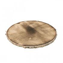 Disco de madera decorativo flameado Madera rústica decoración contrachapado Ø20cm