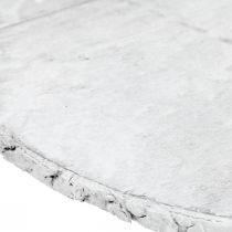 Disco de madera Deco decoración de mesa vintage contrachapado blanco Ø25cm