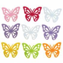 Decoración de mesa de fieltro con mariposa Surtido 3.5 × 4.5cm 54 piezas Diferentes colores