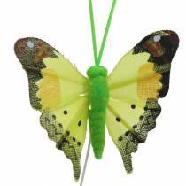 Mariposa decorativa con alambre surtido 5cm 24pcs