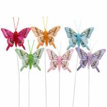Mariposa decorativa con alambre 5cm 24pcs clasificada