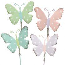 Flor tapón mariposa pastel 24cm 12pcs