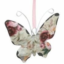 Mariposa para colgar percha decorativa de metal 7cm decoración primavera 12pcs