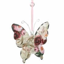Mariposa para colgar colgador de decoración de metal 9cm decoración de primavera 6pcs