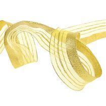 Cinta de adorno con franja de lurex dorado 40mm 20m