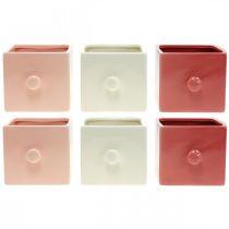 Cajón para plantas, cajón decorativo, recipiente de cerámica, jardinera 6 piezas