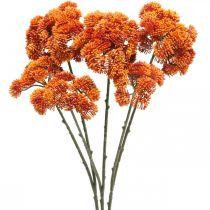 Sedum artificial sedum naranja otoño decoración 70cm 3pcs