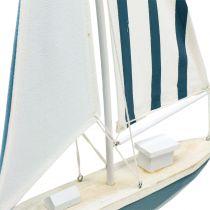 Deco velero madera azul-blanco 56,5cm