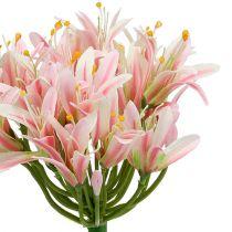 Flor de seda Agapanthus Rosa 80cm