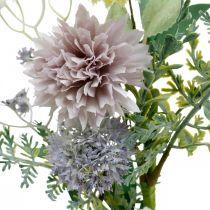 Ramo de flores de seda, adornos de verano, crisantemos y cardos esféricos, flores artificiales L50cm