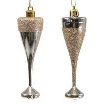 Copas de champán para colgar oro claro 10cm 8pcs