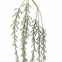 Zarcillo suculento colgante verde, bronce metálico 114cm