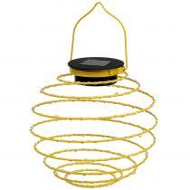 Lámpara de jardín solar amarilla 22cm con 25LEDs Blanco cálido