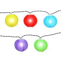 Lampionkette solar LED colorido 4,5m 10 bombillas blanco frío