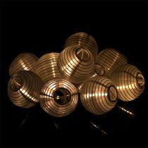 Linterna solar cadena LED 4.5m blanco 10 bombillas