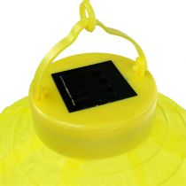 Lampion LED con solar 20cm amarillo