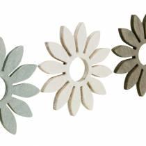 Flores de verano decoración de madera flores marrón, gris claro, blanco streudeko 72pcs