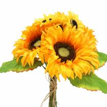 Ramo decorativo girasol racimo amarillo 30cm