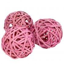 Aglomerado Rosa Ø6cm 6pcs