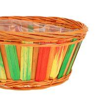 Tablero aglomerado redondo multicolor 12 piezas Ø 20cm