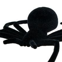Spider Black 16cm flocado