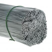 Cable de enchufe, alambre plateado galvanizado Ø0,4mm L180mm 1kg