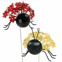 Tapón de jardín flor mariquita rojo, amarillo surtido 2 piezas