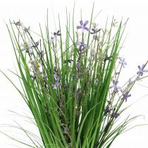 Ramo decorativo de pie con flores de prado artificial lila 51cm