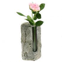 Florero de hormigón con tubo de ensayo H15cm 3 piezas