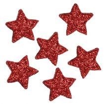 Estrella purpurina 1,5cm para espolvorear rojo 144pcs