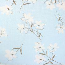 Tela decorativa flores azul 30cm x 3m