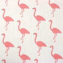 Tela decorativa Flamingo Blanco-Rosa 30cm x 3m